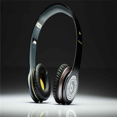 Beats By Dr Dre Solo HD High Performance White Diamond Headphone Black/Yellow