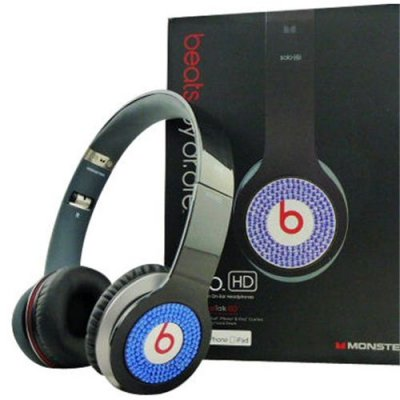 Beats By Dr Dre Solo Blue Diamond Headphones Black
