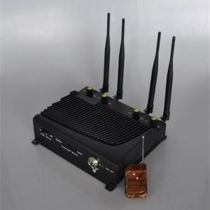 Adjustable 4 Band Desktop Mobile Phone Jammer with Remote Control