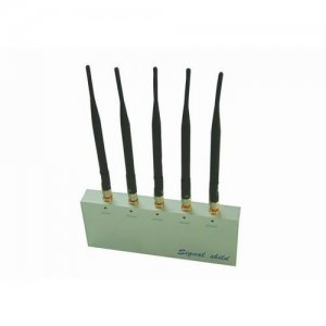 Mobile Phone Jammer with Remote Control and 5 Antenna