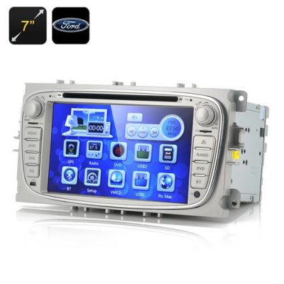 "7 Inch Screen Car DVD Player ""Blunt"" - For Ford Focus 2009-2012, 1080p, GPS, Bluetooth (2 DIN)"