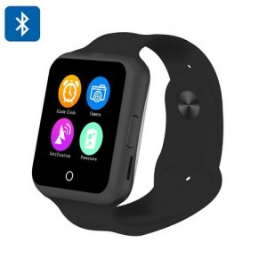 NO.1 D3 Smart Watch Phone - 1.44 Inch Touchscreen, MTK6261, GSM, Heart Rate Monitor, Pedometer, Sleep Monitor (Black)