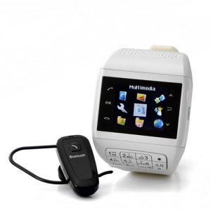 "Mobile Phone Watch with Keypad ""Quartz"" - Dual SIM, Touch Screen, Bluetooth Headset, 4GB micro SD card"