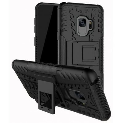 Case for Samsung S9 Shockproof Back Cover Armor Hard Silicone - BLACK