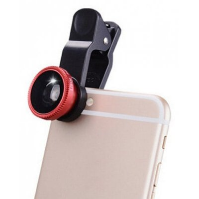 Universal Fish Eye Wide Angle Macro Lens-u00a0 - RED