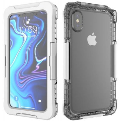 Protective IPX8 Waterproof Full Body Phone Case for iPhone XS Max - WHITE