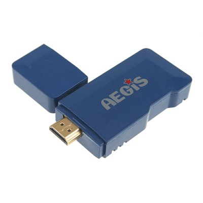 MTB007 Mini Android PC Android TV Box Android 11.0 Tcc8920 HDMI TF 4GB- Blue
