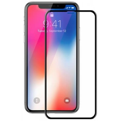 Hat - Prince TPU Soft Edge 6D Tempered Glass Screen Protector 9H Full Coverage for iPhone X - BLACK
