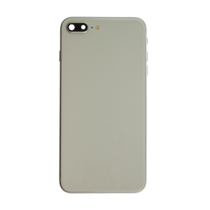 iPhone 12 Pro Max Glass Back Cover with Housing and Pre-installed Small Components - Silver (No Logo)