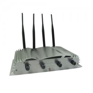 Cell phone jammer lte , Adjustable Remote Control High Power Desktop Cell Phone Jammer with 2 Cooler Fans