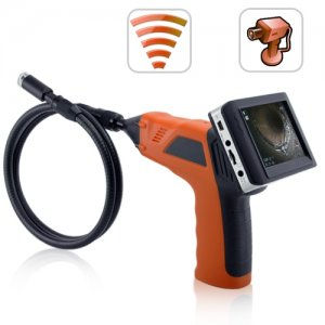 Wireless Inspection Camera with 3.5 Inch Color Monitor + DVR - Wireless monitor
