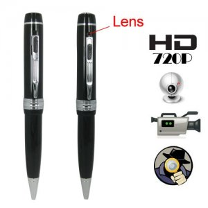 1280 x 720P HD Spy Camera Pen Support Video + Audio + Photograph + Webcam