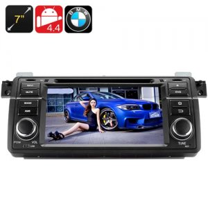 7 Inch Touchscreen Car DVD Player – Android 9.1, Quad Core CPU, 1 DIN, GPS, Bluetooth, Wi-Fi, 3G, For BMW M3 + E46