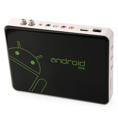 ES-02 Android TV Box TV Dongle Android 9.1 DVB-S2 RJ45 AV Output HDMI 3 USB Remote Control