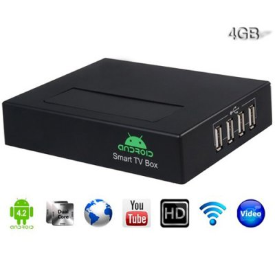 A19 Andriod TV Box AllWinner A20 Dual Core Android 9.1 1G 4G HDMI VGA AV Output