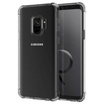 Mrnorthjoe Shockproof Armor Clear Back Case Cover for Samsung Galaxy S9 - TRANSPARENT