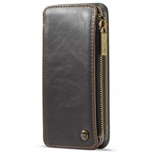 CaseMe Dachable 2 in 1 Business Zipper Leather Wallet Cover for iPhone 6s - 6 - BROWN