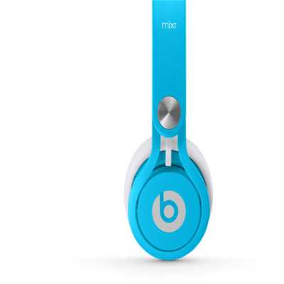 Beats By Dr Dre Mixr Over-Ear Neon Blue Headphones