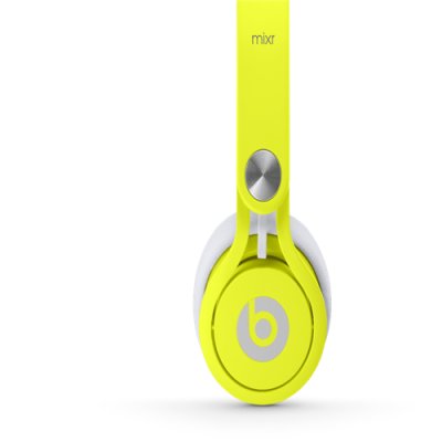 Beats By Dr Dre Mixr Over-Ear Neon Yellow Headphones