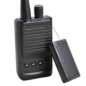 500 Meter Micro Wireless Audio Spying Bug Recording Transmitter and Voice Receiver Set