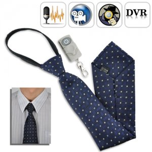 Spy Camera Tie with Wireless Remote - 4GB DVR Built-in