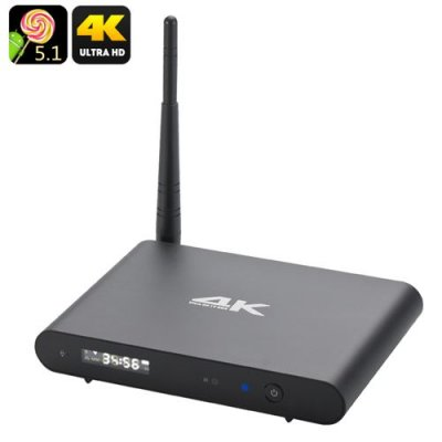 Octa Core Android 9.1 Wi-Fi TV Box - Ultra HD 4K Resolutions, 2.4GHz + 5GHz Wi-Fi, DLNA, Miracast, Kodi, OTG
