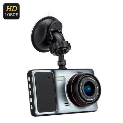 1080P HD Car DVR - 170 Degree Lens, 4 Inch LCD, Motion Detection, G-Sensor