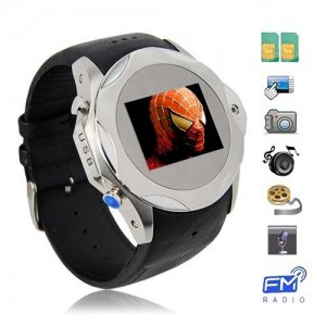 Dual SIM Card 1.3 Inch OLED Touch Screen Watch Phone with Wireless Transmission