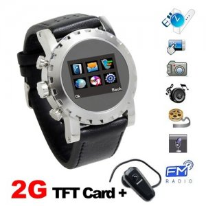 Multifunctional 1.3 Inch OLED Touch Screen Watch Phone Support Dual SIM Card