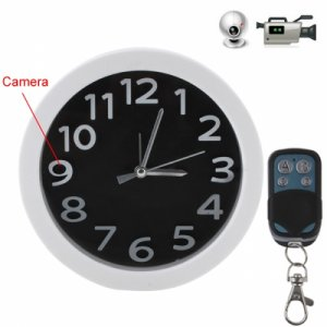 5.0 Mega Pixels Full HD 1080P Video Wall Clock Remote Control Spy Camera