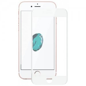 Hat - Prince 6D 0.26mm 9H Tempered Glass Full Screen Protector for iPhone 7 - 8 - WHITE