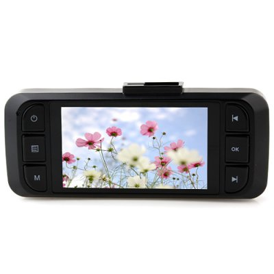 AT900 2.6 Inch 5.0 Mega Pixels 1080P Full HD Car DVR HDMI G-Sensor AV-out Black