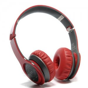 Bluetooth Beats Solo 2 High Performance Wireless Over-Ear Red Headphones