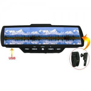 Car Rearview Mirror Support FM and Hands-free Function