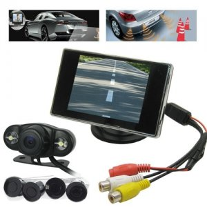 Car Parking Kits with Wireless Car Rearview Camera + 4 Parking Sensor