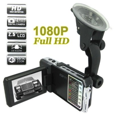 1920 x 1080P HD Video Recorder + 2.5 Inch LCD Screen 5.0MP Car DVR
