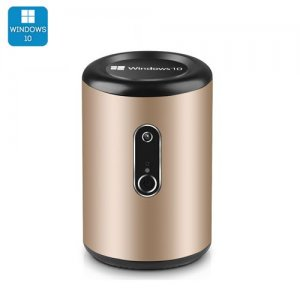 "Intel Mini PC ""Win Pro G2"" - Windows 10, CR Z3735F Quad Core CPU, Wi-Fi, 2MP Camera, Bluetooth 4.0 (Gold)"