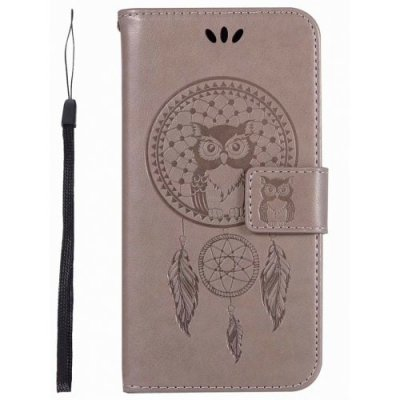 Owl Wind Chimes Wallet PU Flip Leather Cover for iphone XR Case - GRAY
