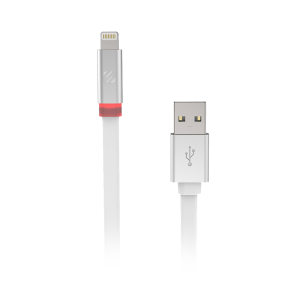 Scosche flatOUT LED 6ft. Charge and Sync Cable for Lightning Devices - White