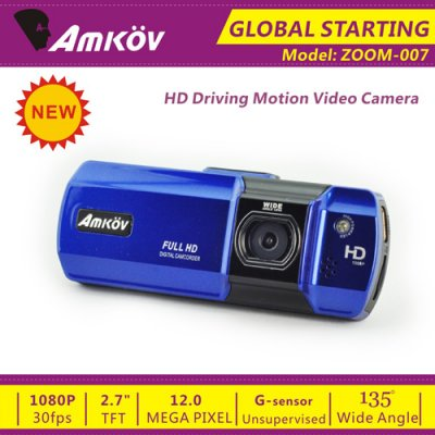 Amkov ZOOM-007 2.7 Inch Extreme Sports Camera Digital Camcorder for Backpackers Bikers -Blue