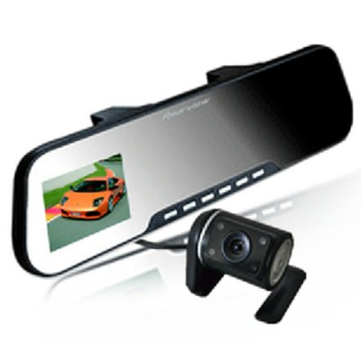 "X888AV 2.7"" TFT HD Dual Lens Rearview Mirror Car Camera DVR"
