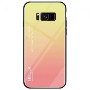Gradient Tempered Glass Case for Samsung Galaxy S8 Plus - MULTI-A