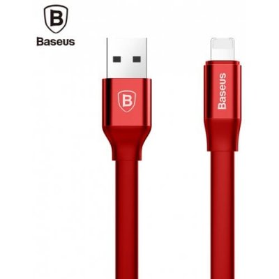 Baseus Simple Series 2 in 1 Charge Data Transfer Cord 1.2M for iPhone XS - XR - XS MAX - RED