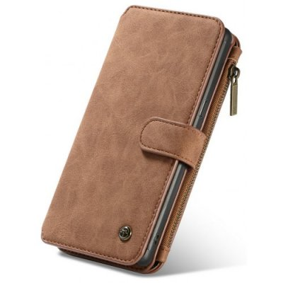 CaseMe for Samsung Galaxy Note 9 Detachable 2 in 1 Flip Folding Wallet Case TPU - BROWN