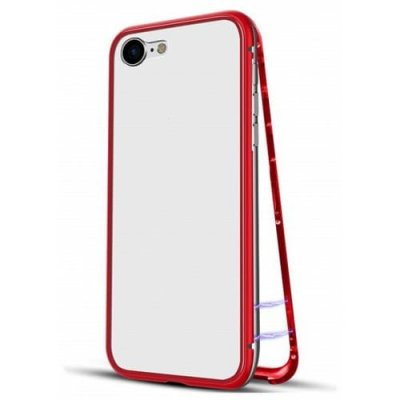 Ultra Slim Magnetic Adsorption Metal Case for IPhone 7 - 8 phone case - RED