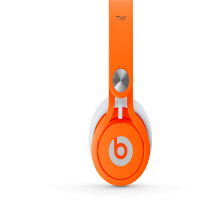 Beats By Dr Dre Mixr Over-Ear Neon Orange Headphones