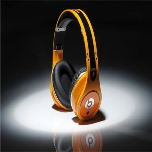 Beats By Dre High Definition Powered Isolation Headphones Ferrari Yellow Black Racing Edition