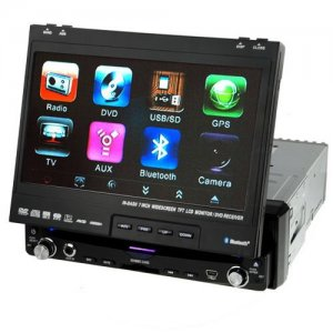 7 Inch Touch Screen Car DVD Player - FM - AM - Built-in Amplifier