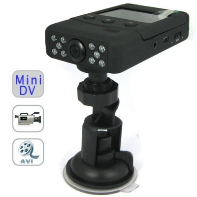 HD 720p Portable Car DVR with 2.5 Inch TFT LCD + Wide Angle + Night Vision