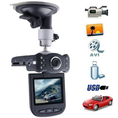 120 Degrees View Angle 2.5 Inch Rotated Screen 720p Car DVR with Night Vision